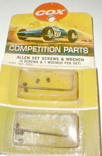 2 Allen Wrench + 8 Screws Group by COX (10) items 1960's Original Slot Car NOS