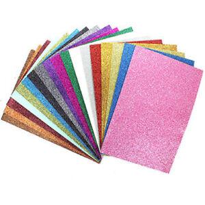 1-10 SHEETS OF A4 GLITTER FOAM Art Craft Kids Children Thick Shiny Glitter sheet