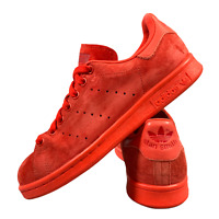 Adidas Stan Smith Women's Men's Shoes Size Uk 5 Red Suede Casual Trainers EUR 38