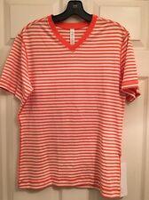 Lululemon 5 Year Basic V Nwt Small Sawr Orange And White Stripe Color