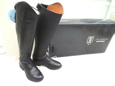 """NEW JUST TOGS JTE NEBRASKA FIELD LONG BOOTS,BLACK LEATHER,5 UK,14"""" CALF,BOXED"""