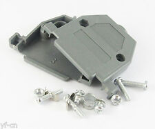 10sets D-Sub DB25 25Pin Plastic Hood Cover for 25 Pin 2 Row D-Sub Connector Grey