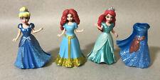 """Disney Princess Magiclip 3.5"""" Mini Doll 4pc Lot - Merrida, Ariel & Cinderella"""