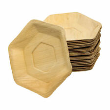 "Palmblatt Teller ""Sechseck"" 25cm, 25 mm Tiefe, 100 Stück, Party, kompostierbar,"