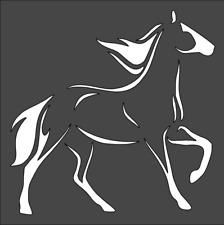 1- 8x8 inch Custom Cut Stencil, (VA-61) Horse