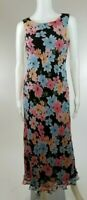 HAROLD'S Sleeveless Maxi Dress Black Floral Summer Womens US Size 6 Small S