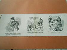 Caricature 1873  - Laiiser supposer qu'elle est la femme chienne Muselière