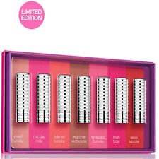 New With Box Clinique Days of the Week Lipstick Gift Set in 7 Beautiful Shades!