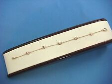 """1.10 CT """"DIAMONDS BY THE YARD"""" 5 STATIONS 14K ROSE GOLD COMFORT FIT BRACELET"""