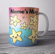 Cute Smiley Stars Personalised Mug / Cup Birthday Christmas Gift - ADD ANY NAME