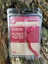 NEW Tactical Solutions Ruger 10/22 extended magazine release in RED