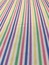 Retro Candy Stripe Cotton Flannelette Remnant Craft Material Fabric 120x110cm