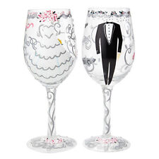 Lolita mariée et marié mariage cadeau set 2 verres