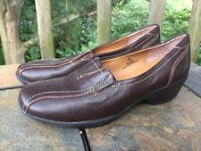 SALE @ SOFTSHOE by MEDICUS Leather Clogs Mules High Heel Women Shoes Sz 6.5 ❤️b3