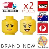 Genuine LEGO® Minifigure - Heads x2 - Female, Woman, Girl, Lady - Brand New