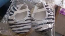 Baby Soft Shoes age 3 - 6 months Zebra Print Black & White New