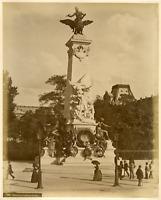 France, Paris, Monument de Gambetta  Vintage albumen print. Tirage albuminé