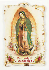 Our Lady of Guadalupe   Wall Plaque with  Prayer on back