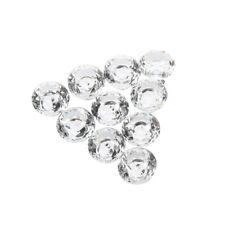 10X30mm diamant Verre Cristal Porte Tiroir Meubles Cabinet Poignee Bouton F6P5