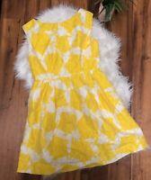 Shoshanna Women's Sleeveless Shift flare floral Dress White yellow Size 10 ~ X3