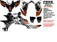 DFR FOLD GRAPHIC KIT BLACK/ORANGE SIDES/FENDERS YAMAHA YFZ450 YFZ 450