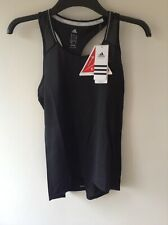 Adidas Ladies Performance Run Sport Gym Tank In Black Uk XS 6