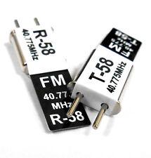RC 40 MHz 40.775 FM Cristal TX & RX Receptor 40 MHz Negro canal 58