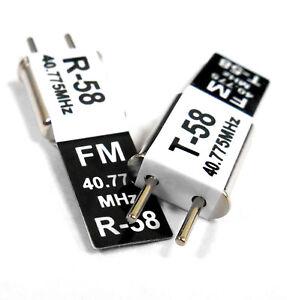 RC 40 MHZ 40.775 FM Crystal TX & RX Receiver 40MHZ Black Channel 58