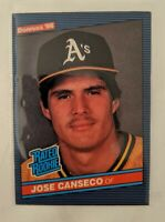 1986 DONRUSS RATED ROOKIE JOSE CANSECO #39 RC