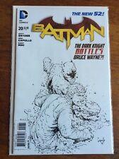 Batman new 52 #20 B& W 1:100 CAPULLO SKETCH VARIANT NM READ DESCRIPTION PLS