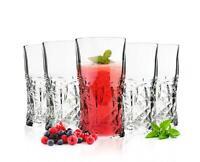 6 Whiskeygläser mit Schliff 250ml Whiskeyglas Wassergläser Saftgläser Gläser