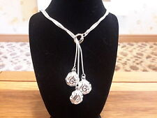 with three roses and gift box Brand new 925 stamped silver plated necklace