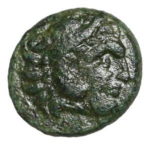 Kings of Thrace. Lysimachos. 305-281 BC. Æ, Hercules / Wreath