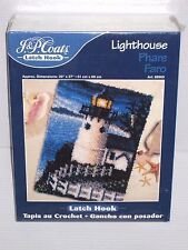 "NEW 2000 J&P Coats LIGHTHOUSE Latch Hook KIT 20"" x 27"" SEALED #88969"