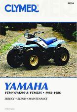 CLYMER MANUAL YAMAHA YTM225DXK 1983, YTM225DXL 1984, YTM225DXN 1985 TRI-MOTO