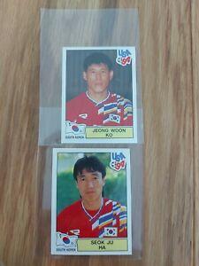 Panini World Cup USA 94, South Korea Lot