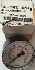 Baxter Pressure Gauge 100 PSI 2 dia, 01-100V17-00204