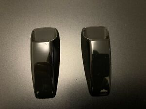 GLOSS BLACK WINDSCREEN WASHER WIPER NOZZLE COVER FITS FREELANDER 2 DISCOVERY 3