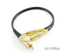 Single RCA Male to 2-RCA Male Gold-Plated Y-Splitter Cable