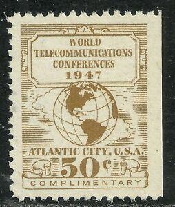 U.S. Revenue Telegraph stamp scott 17t3 - Western Union 50 cent issue - mnh #4
