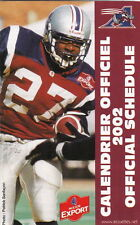 2002 MONTREAL ALOUETTES CFL FOOTBALL SCHEDULE -  FRENCH  AND ENGLISH