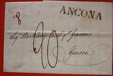 Italy Prephilatelic Letter sent from Ancona to Genova - Linear black