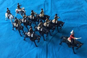 1960's BRITAINS Plastic, Eyes Right Regiment Band of the Guards Mounted x 11.