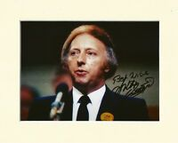 ARTHUR SCARGILL NUM MINERS LEADER PP 10X8 MOUNTED SIGNED AUTOGRAPH PHOTO