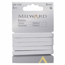 Premium Quality Milward Elastic: 5m x 6mm: White Sewing Quilting Tools