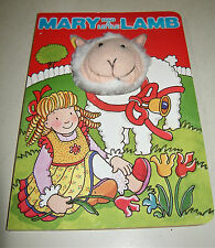 MARY HAD A LITTLE LAMB BOARD BOOK W/PUFFY PLUSH LAMB FACE THROUGH COVER 2004