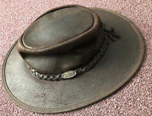 Overlander Kakadu Bronco Leather Cowboy Hat Australian Small