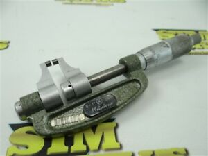 "NICE MITUTOYO CARBIDE FACED CALIPER TYPE MICROMETER 143-121 0-1"" RANGE .001"""