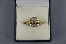 Bague Or Jaune et Blanc 18 carats et Diamants Taille 50,5 ou Ø 16 mm jewel ring.
