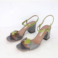 L AUTRE CHOSE Damen Schuhe Sandaletten Gr 38 Mehrfarbig Leder Pumps NP 329 NEU